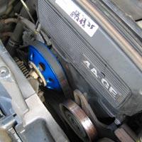 4AG/AE86 大径ウォーターポンププーリー 取付例