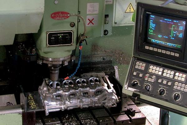 燃焼室機械加工整形